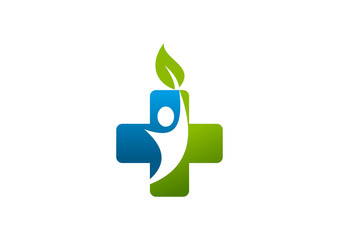 cross pharmacy body health logo Vector