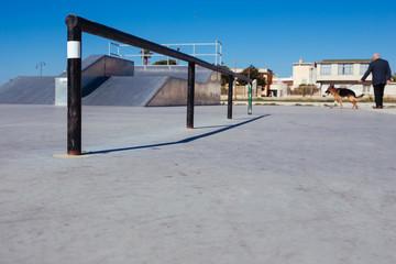 Skatepark in sunny day