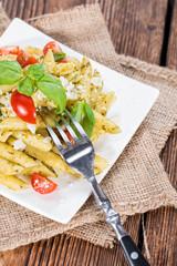 Pasta (Penne with Pesto)