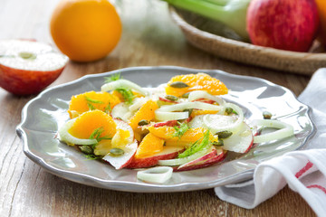 Orange with Apple and Fennel salad