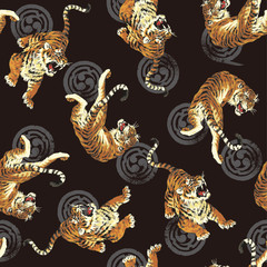 日本画調.虎のパターン