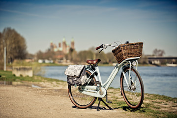 Bicycle at the Rhine