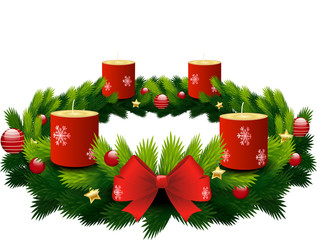advent wreath candles off