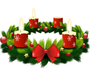 advent wreath 3 candles