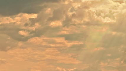 Heavenly clouds and sunbeams time lapse