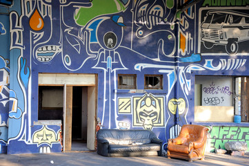 squat et graffitis
