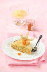Piece of Vegan Pineapple Upside Down Cake