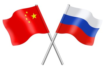 Flags: China and Russia