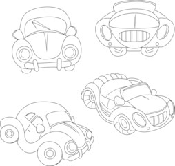 contour cartoon car