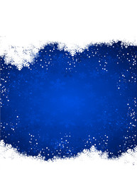 blue snow christmas background