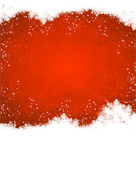 red snow christmas background