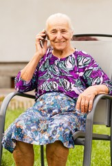Senior Woman with Smartphone
