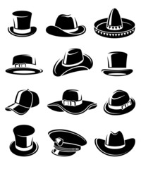 Hats collection set. Vector