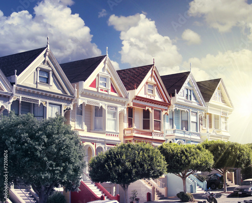 Aluminium San Francisco painted ladies at alamo square