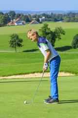 angehender Golfprofi