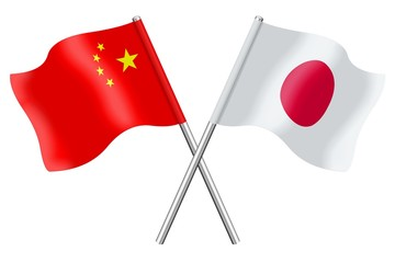 Flags: China and Japan