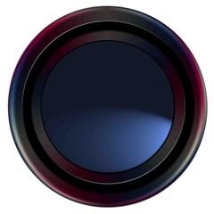 Bouton web bleu et noir