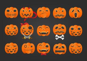 Icon Helloween face illustrati symbol