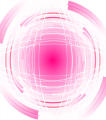 Abstract white background of rotating soft pink