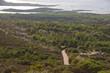vegetazione dell'isola di caprera dall'alto