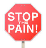Stop the Pain Sign End Ache Discomfort Cure Medicate Medicine Tr poster