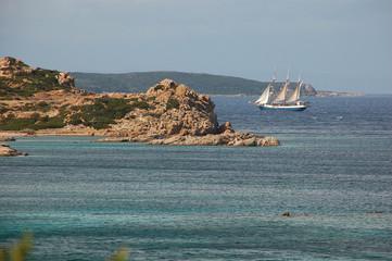 visuali della costa dell'arcipelago