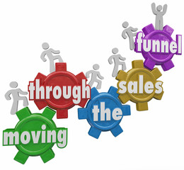 Moving Through Sales Funnel Customers Buying Your Products