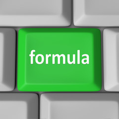 Formula Computer Key Button Calculate Figure Solution Problem