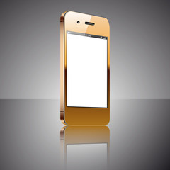 Gold smartphone