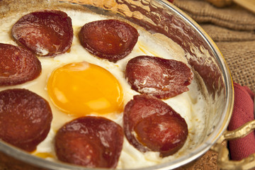Turkish Sausage (sucuk) and egg