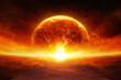 Leinwanddruck Bild - Earth in hell