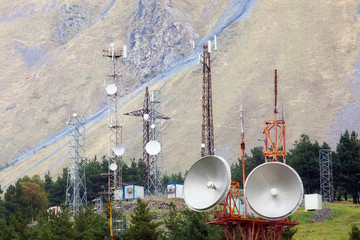 Telecommunication in mountain