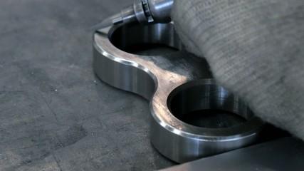 industrial details, metal beveling