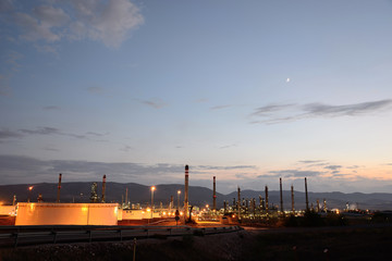 Petrochemical complex in Puertollano, Ciudad Real, Spain.