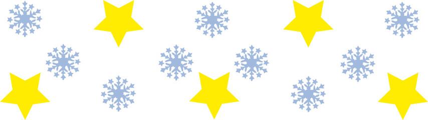 Schneeflocken und Sterne