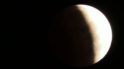 皆既月食中の月を横切るジェット機