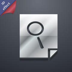 Search in file icon symbol. 3D style. Trendy, modern design with