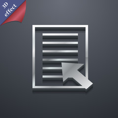 Text file icon symbol. 3D style. Trendy, modern design with
