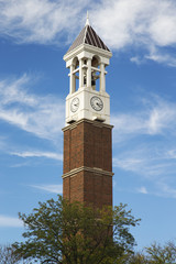The Bell Tower on the Campus of Purdue University