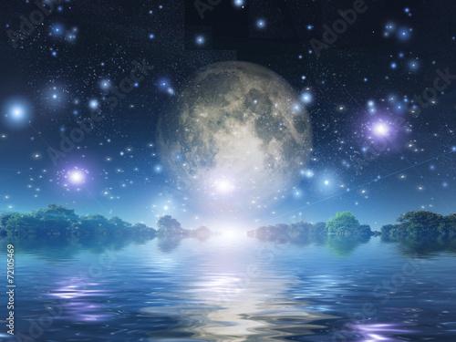 Leinwandbild Motiv Moonrise