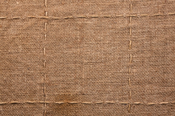 Seam on sackcloth