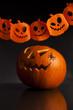 halloween pumpkin on a dark background