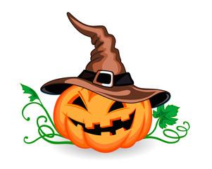 Halloween pumpkin in heat