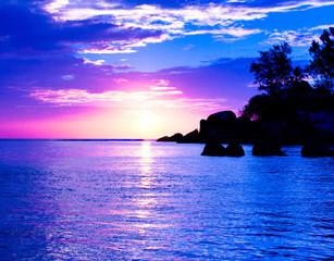 Sunset Seascape Nightfall