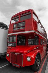 Vieux bus à impériale à Londres