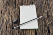 Blank Note Book With Wood Pencil