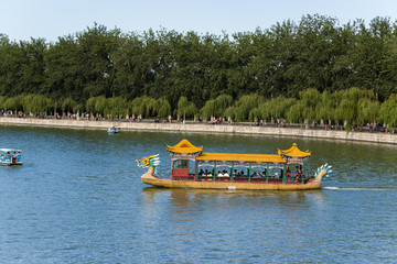 Beijing. Boat-dragon on the Kunming Lake in the Summer Palace