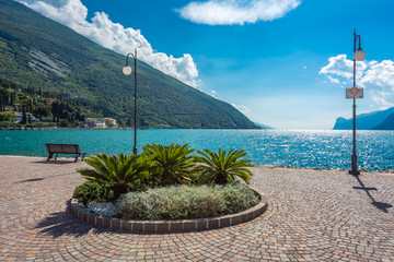 Torbole, Italy. The city situated by Lago di Garda.