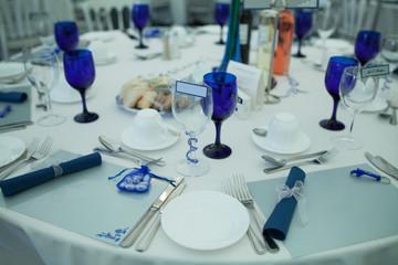 Elegant formal table at a wedding reception