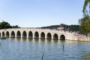 Beijing. Seventeen arch bridge in the Summer Palace (Yíhe Yuan)